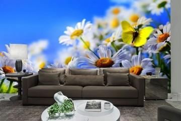 Papel De Parede 3D | Flores 0016 - papel de parede de flores