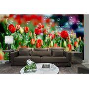 Papel De Parede 3D   Flores 0020 - papel de parede de flores