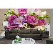 Papel De Parede 3D | Flores 0025 - papel de parede de flores