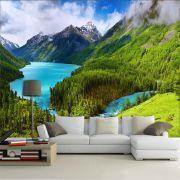 Papel De Parede 3D | Lagos 0002 - papel de parede paisagem