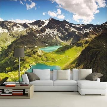 Papel De Parede 3D   Lagos 0007 - papel de parede paisagem