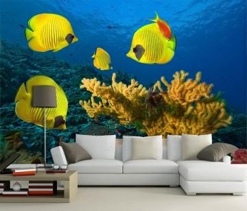 Papel De Parede 3D | Oceanos 0012 - papel de parede paisagem