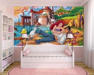 Papel De Parede 3D | Papel de Parede Infantil Ariel 0012 - Sobmedida: m²