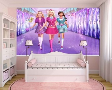 Papel De Parede 3D   Papel de Parede Infantil Barbie 0003 - Sobmedida: m²