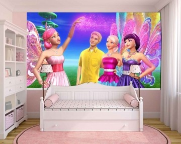 Papel De Parede 3D | Papel de Parede Infantil Barbie 0004 - Sobmedida: m²