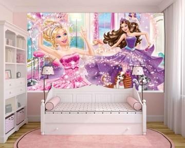 Papel De Parede 3D | Papel de Parede Infantil Barbie 0006 - Sobmedida: m²