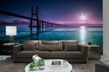 Papel De Parede 3D Pontes 0001 - papel de parede paisagem