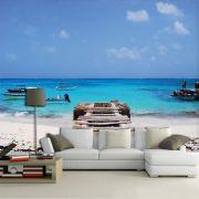 Papel de Parede 3D Praias 0001 - Adesivo Paisagem
