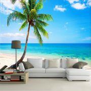 Papel de Parede 3D Praias 0011 - Adesivo Paisagem