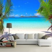 Papel de Parede 3D Praias 0012 - Adesivo Paisagem