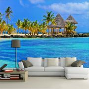 Papel de Parede 3D Praias 0013 - Adesivo Paisagem
