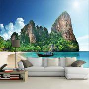 Papel de Parede 3D Praias 0016 - Adesivo Paisagem