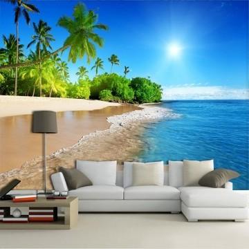 Papel de Parede 3D Praias 0019 - Adesivo Paisagem