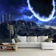 Papel De Parede 3D Universo 0002 - papel de parede paisagem