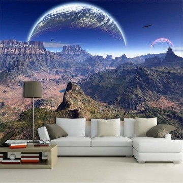 Papel De Parede 3D Universo 0006 - papel de parede paisagem