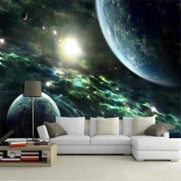 Papel De Parede 3D Universo 0012 - papel de parede paisagem