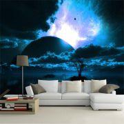 Papel De Parede 3D Universo 0018 - papel de parede paisagem