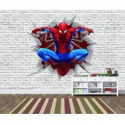 Papel de Parede 3D Vingadores Tijolos 0003