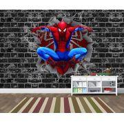 Papel de Parede 3D Vingadores Tijolos 0004