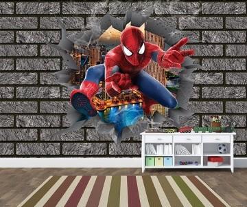 Papel de Parede 3D Vingadores Tijolos 0005