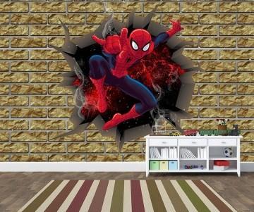 Papel de Parede 3D Vingadores Tijolos 0008