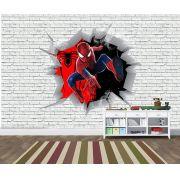 Papel de Parede 3D Vingadores Tijolos 0009