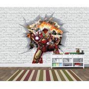 Papel de Parede 3D Vingadores Tijolos 0031