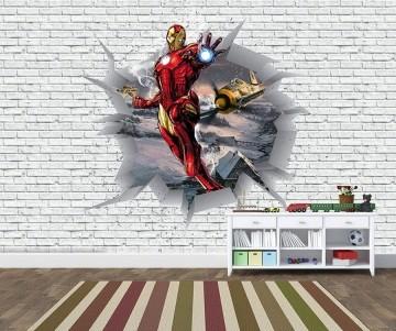 Papel de Parede 3D Vingadores Tijolos 0035