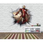 Papel de Parede 3D Vingadores Tijolos 0039