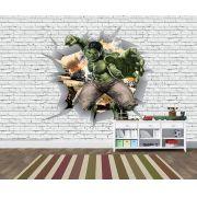 Papel de Parede 3D Vingadores Tijolos 0041