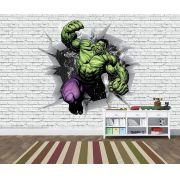 Papel de Parede 3D Vingadores Tijolos 0045