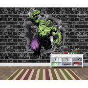 Papel de Parede 3D Vingadores Tijolos 0046