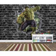 Papel de Parede 3D Vingadores Tijolos 0050
