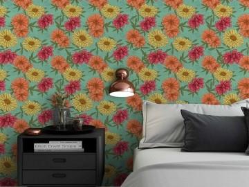 Papel de Parede Floral 0055 - Adesivos de Parede