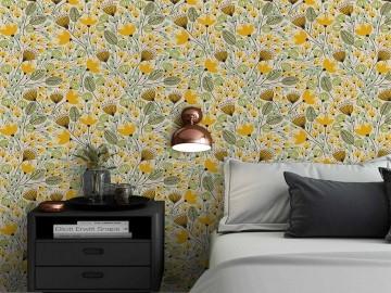 Papel de Parede Floral 0062 - Adesivos de Parede