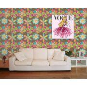 Papel de Parede Floral 0063 - Adesivos de Parede