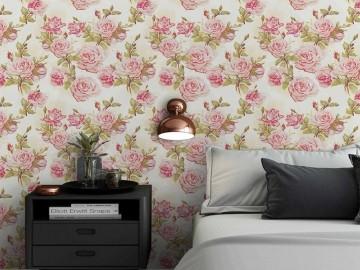 Papel de Parede Floral 0091 (Rolo 3m x 59cm) - PROMOÇÃO