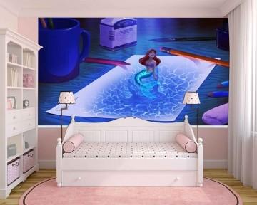Papel de Parede Infantil Ariel 0004 - papel de parede para quarto
