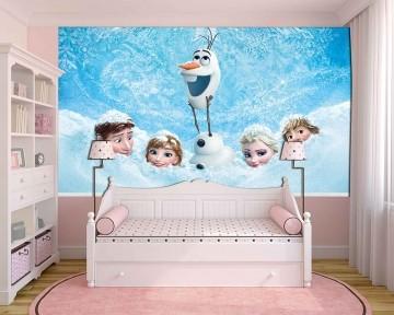 Papel de Parede Infantil Frozen 0002 - Papel de Parede para Quarto