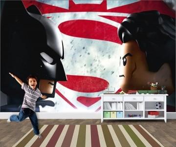 Papel de Parede Infantil Heróis lego 0001