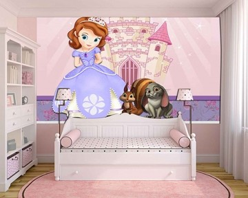 Papel de Parede Infantil Princesa Sofia  0017