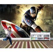 Papel de Parede Infantil Super Heróis 0007 -Adesivos de Parede