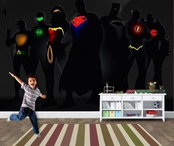 Papel de Parede Infantil Super Heróis 0008 -Adesivos de Parede