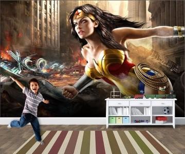 Papel de Parede Infantil Super Heróis 0009 -Adesivos de Parede