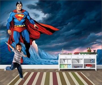 Papel de Parede Infantil Super Heróis 0010 -Adesivos de Parede