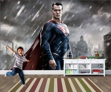 Papel de Parede Infantil Super Heróis 0019 - Adesivos de Parede