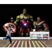 Papel de Parede Infantil Super Heróis 0026 - Adesivos de Parede