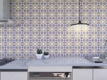 Papel de Parede para Cozinha Azulejos 0003 - Adesivos de Parede
