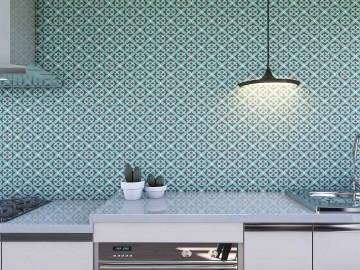 Papel de Parede para Cozinha Azulejos 0008 - Adesivos de Parede