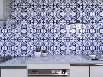 Papel de Parede para Cozinha Azulejos 0012 - Adesivos de Parede